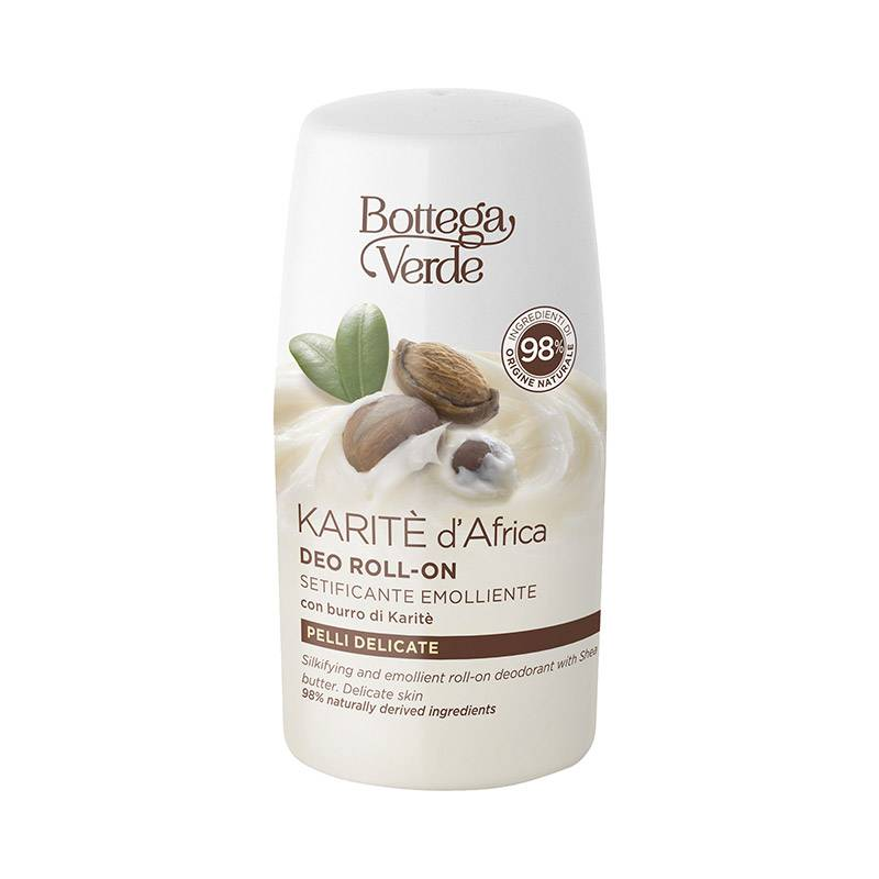 Bottega Verde Desodorante roll-on - suavizante y emoliente - con manteca de Karité (50 ml) - pieles sensibles