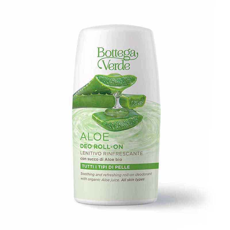 Bottega Verde Desodorante roll-on - calmante refrescante - con zumo de Áloe ecológico (50 ml) - para todo tipo de pieles
