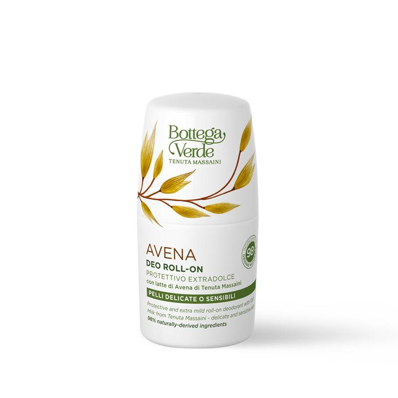 Bottega Verde Deo-roll-on protector extrasuave con leche de Avena de Tenuta Massaini (50 ml) - pieles delicadas o sensibles