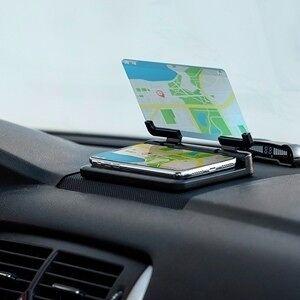 Soporte para teléfono de coche con espejo