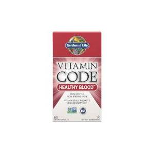 Garden of Life Vitamin Code Healthy Blood - 60 cápsulas