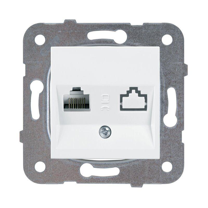 Panasonic Toma Informatica Rj45 Cat6  Viko Wktt04052wh Karre Plus Blanco