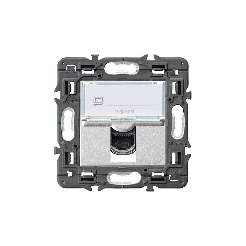 Legrand Base Informatica Rj45 Cat6  741375 Serie Valena Next Color Aluminio
