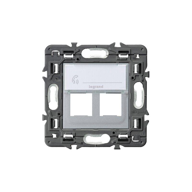 Legrand Tapa Informatica 2x Rj45 Cat6  741378 Serie Valena Next Color Aluminio