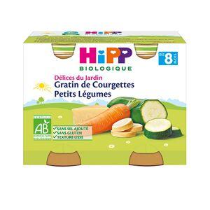 Hipp Delicias de Jardín Biológico Gratinado de Calabacines Petis Verduras + 6m Lote de 2x190g