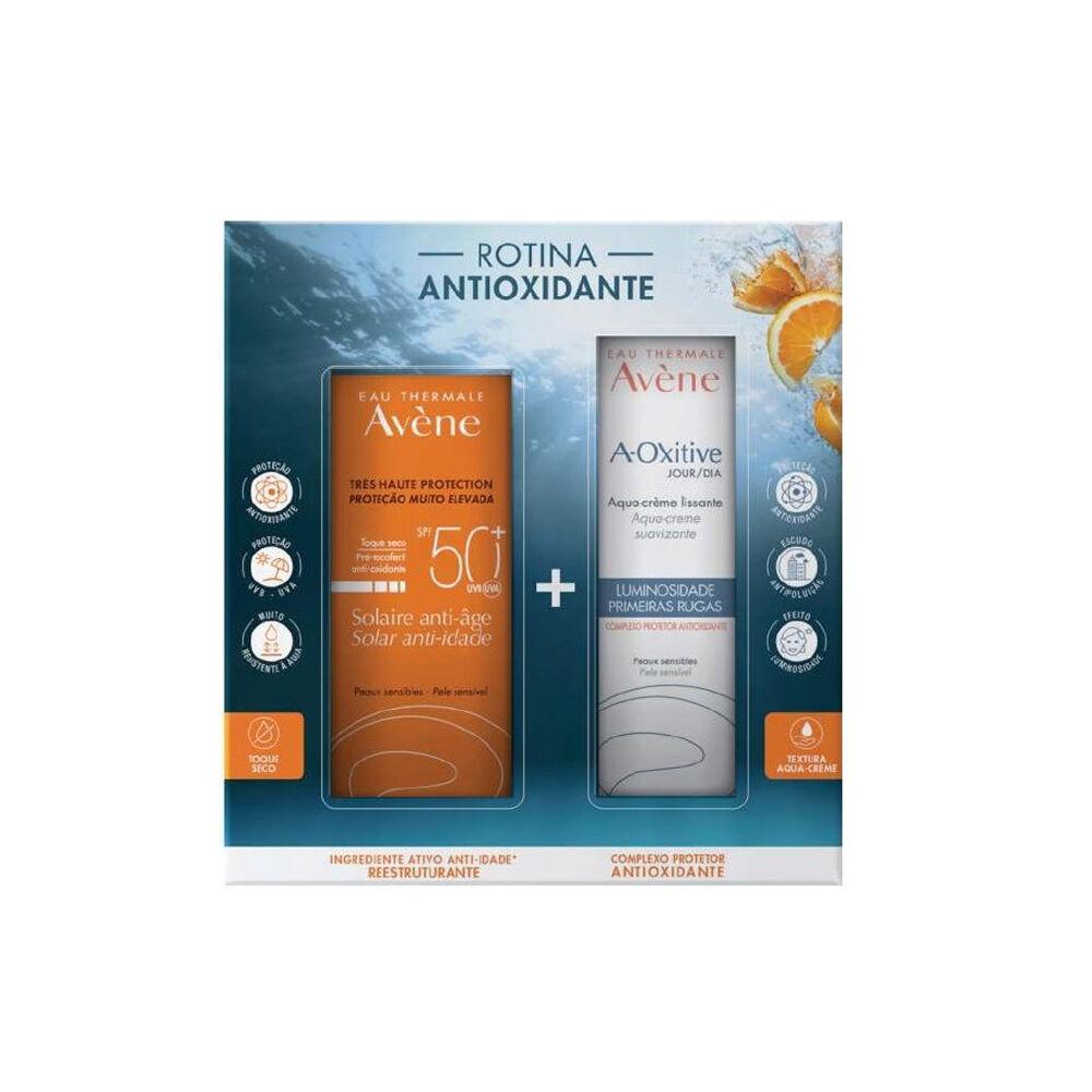 Avène Solar Crema Antiedad Piel Sensible SPF50 + 50ml + Crema A-Oxitive Aqua-Day Luminosity Pr
