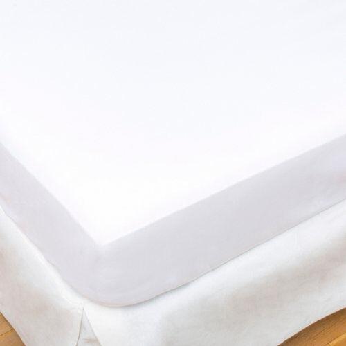 Blanco Sábana bajera algodón blanco para cama 135 / 140 cm