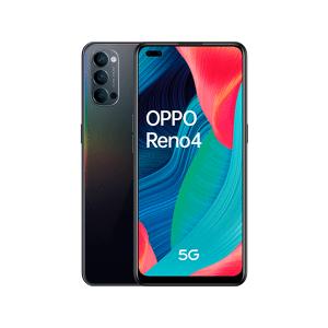 "Oppo Móvil - OPPO Reno 4 5G, Negro, 128 GB, 8 GB, 6.4"" FHD+, Qualcomm Snapdragon 765G, 4000 mAh, Android"