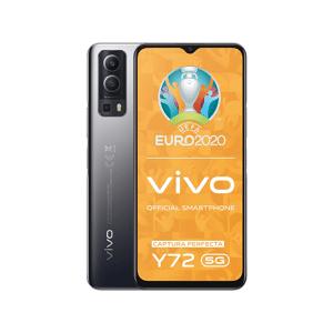 "VIVO Móvil - Vivo Y72 5G, Negro, 128 GB, 8 GB RAM, 6.58"" Full HD+, Dimensity 700, 5000 mAh, Android 11"