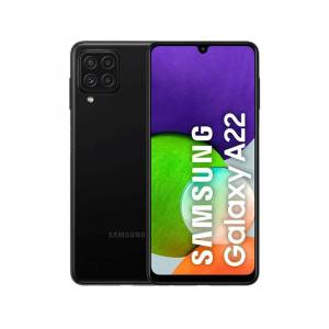 "Samsung Móvil - Samsung Galaxy A22 LTE, Negro, 128 GB, 4 GB, 6.4"" HD+, MediaTek MT6769V, 5000 mAh, Quad Cam, Android"