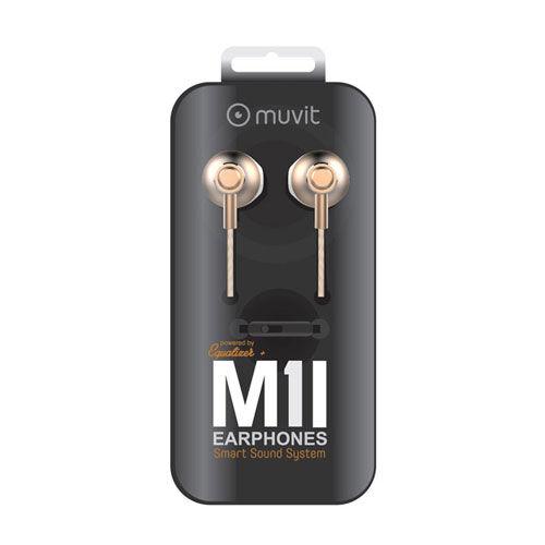 MUVIT Auriculares Multimedia Estereo Oro Muvit In-ear M1i
