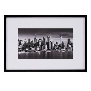 LOLA home Cuadro New York fotoimpreso de metacrilato y papel en blanco y negro de 65x95 cm