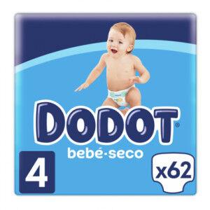 Dodot Pañales Bebé Seco Talla 4 (9-14Kg) 62 unidades Dodot