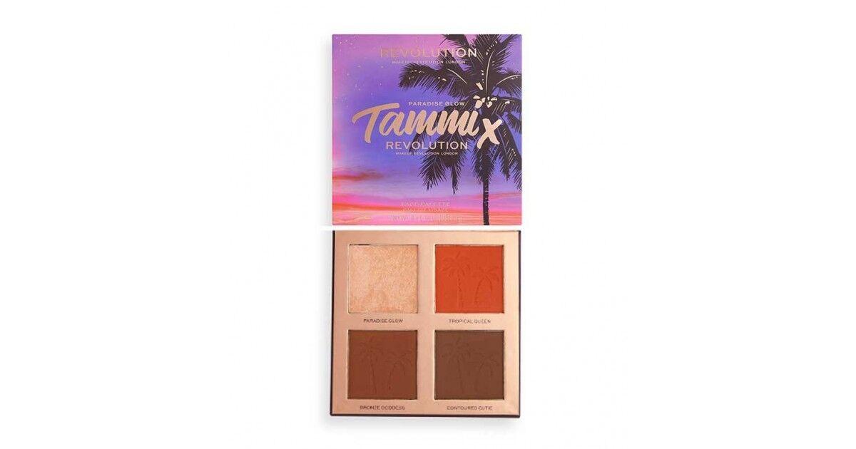 Makeup Revolution - Revolution - *tropical Twilight Collection* - Paleta De Rosro X Tammi - Paradise Glow
