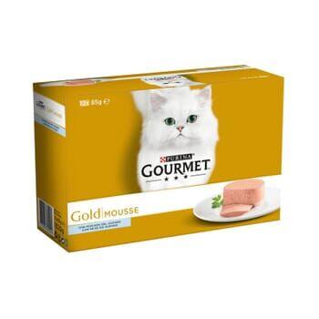 Gourmet Gold Mousse Pack Con Pescado Del Océano 12X85g