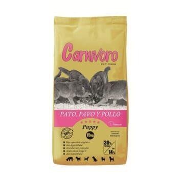 Carnivoro PUPPY PIENSO PERRO PATO PAVO Y POLLO 15 Kg