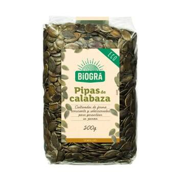 Biogra PIPAS DE CALABAZA BIO 500g