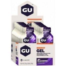 GU Energy Gel con 40 mg de Cafeína - 24 geles x 32 gr Sabor Caramel Macchiato