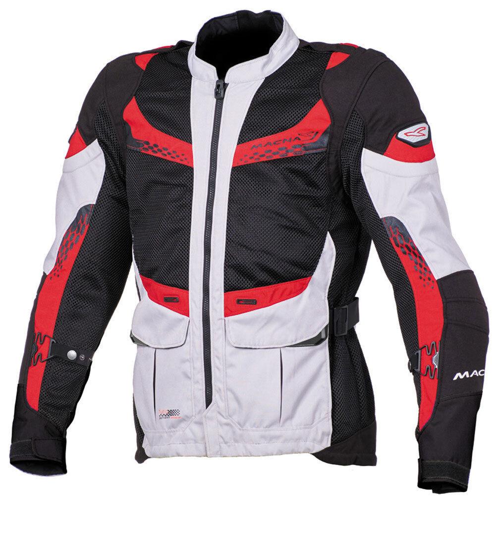 macna furio chaqueta de moto textil negro rojo 2xl