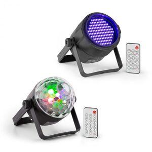 Beamz PLS35 Set V5 4 x 3 W LEDs PLS20 foco LED luz negra UV Par (PL-PLS-v4)