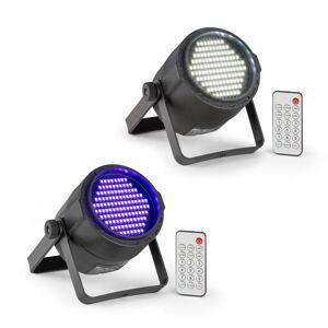 Beamz PLS15 Set V6 Estroboscopio led y reflector led PLS20 Blacklight UV (PL-PLS-v4)
