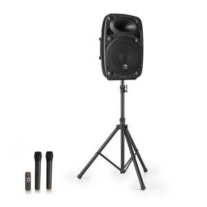 "Auna Streetstar 10 Equipo PA portátil + Trípode Woofer de 10"" Micrófono UHF 400W Negro (PL-32265-Stand)"