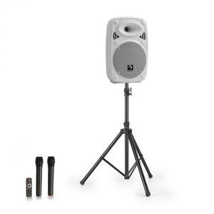 "Auna Streetstar 8 equipo PA móvil + trípode altavoz de graves de 8"" micro UHF máximo 200 W blanco (PL-32270-Stand)"