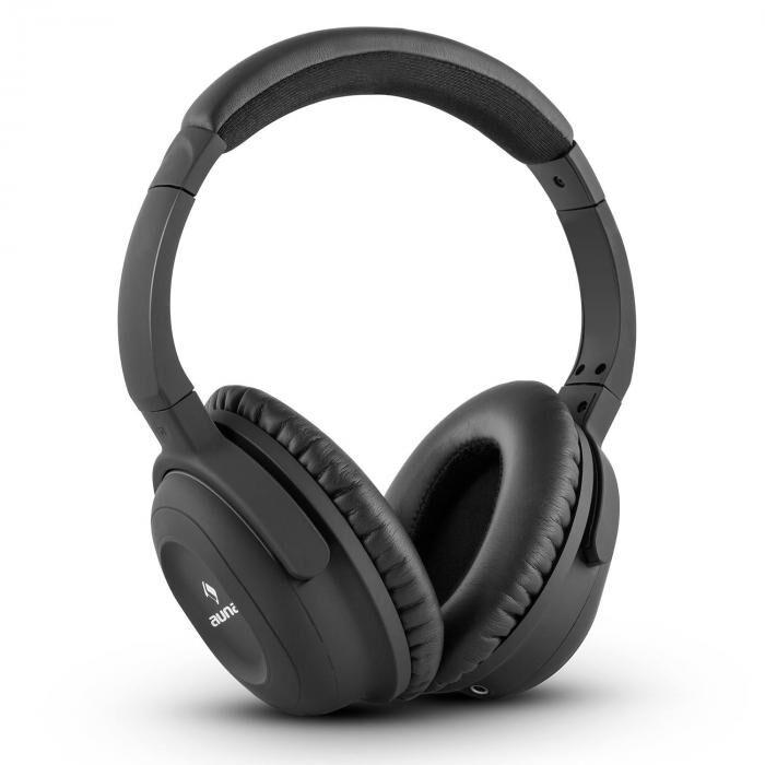 Auna ANC-10 Auriculares con cancelación de ruido Estuche rígido Adaptador Negro (BTF9-NCH-4000)