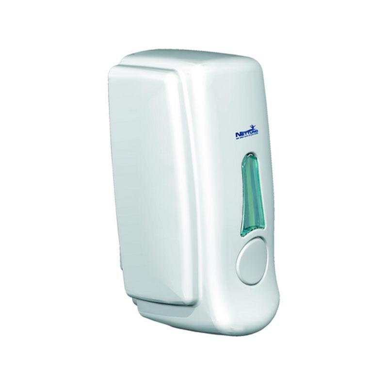 Dispensador de Pared de color Blanco Compatible con Spray Higienizante Sanitario