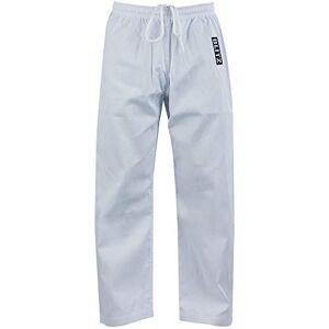 Blitz Student Pantalones de Artes Marciales, Unisex Adulto, Blanco, 1/140 cm