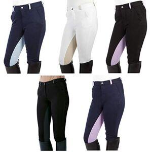 PFIFF Elisa - Pantalones de equitación para niños Azul Blau-Lila Talla:152