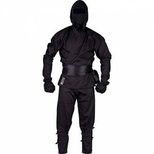 Blitz Ninja TrajeNegro, 4/170cm, Traje, Unisex, Color Negro, tamaño 5-180 cm