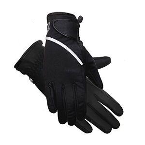 Riders Trend Mujer Softshell Guantes de Invierno Impermeables Thinsulate EquestrianGuantes de equitación, Mujer, Color Black/Grey Reflective Trim, tamaño XXL