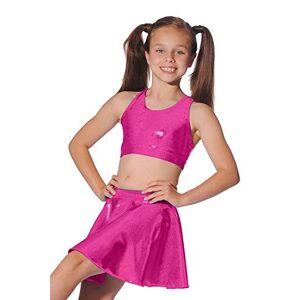 Roch Valley Falda Corta Circular metálica Brillante para Mujer, Mujer, SCSSCL, Cerise, Años 11-13