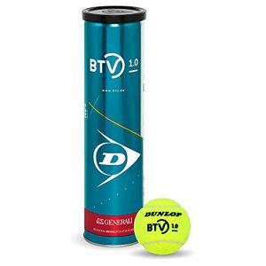 Dunlop BTV 1.0 - Pelota de Tenis para Adultos, Color Amarillo