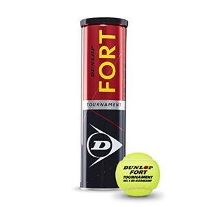 Dunlop Fort Tournament-Juego de 4, Unisex Adulto, Amarillo, Talla única