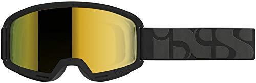 ixs goggle hack black/mirror gold on gafas, adultos unisex, negro, uni