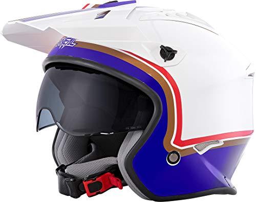 o'neal oneal volt helmet rothmans white/purple/red m (57/58cm) casco moto mx-motocross, adultos unisex