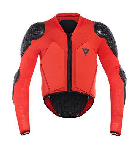 dainese scarabeo jacket chaqueta protectora, niño, negro/rojo, js