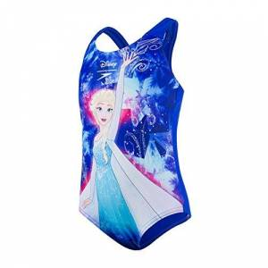 Speedo Digital Placement 1pce If Bañador, Bebé-Niñas, Beautiful Blue/Turquoise/Pink Splash, 1ANS