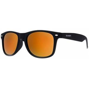Ocean Sunglasses Beach Wayfarer - Gafas de Sol polarizadas - Montura : Negro Mate - Lentes : Verde Espejo (18202.43)