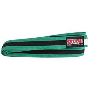 Tatami Fightwear IBJJF - Cinturones para niños, diseño de Rayas, Color Verde y Negro