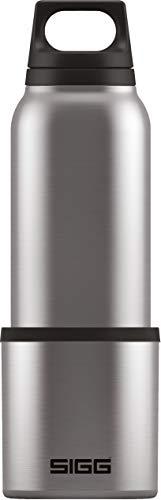 sigg hot & cold brushed botella térmica (0.5 l), cantimplora termo con aislamiento al vacío y sin sustancias nocivas, botella de acero inoxidable hermética