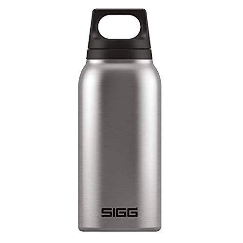 sigg hot & cold brushed botella térmica (0.3 l), cantimplora termo con aislamiento al vacío y sin sustancias nocivas, botella de acero inoxidable hermética