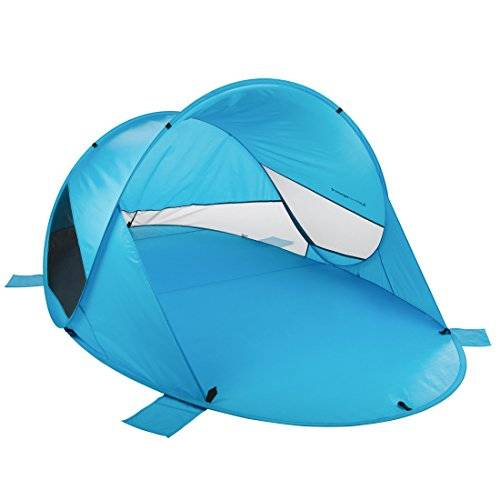 ultrasport tienda de campaña pop-up, paravientos de playa, varios diseños, protección visual y contra el viento, tienda paravientos, protección para el aire libre, color azul