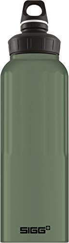 sigg wmb traveller green leaf touch botella cantimplora (1.5 l), botella con tapa hermética sin sustancias nocivas, botella de aluminio ligera