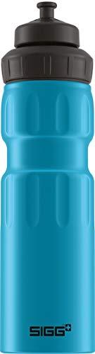 sigg wmb sports blue touch cantimplora deportiva (0.75 l), botella metálica hermética sin sustancias nocivas, botella de aluminio ligera