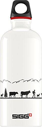 sigg swiss craft botella cantimplora (0.6 l), botella con tapa hermética sin sustancias nocivas, botella de aluminio ligera y robusta