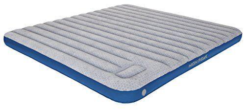 high peak 40047 cama hinchable, unisex adulto, gris claro/azul, 210 x 185 x 20 cm