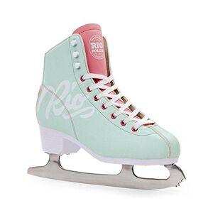 Rio Roller Script Ice Skates Patines para Hielo Patinaje Infantil, Juventud Unisex, Verde (Teal), 34